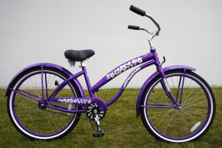26 Lady Beach Cruiser Bike Bicycle in Single Speed by Greenline Color