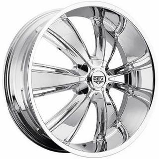 22x9 Chrome Rev 955 Wheels 5x115 5x5 +15 CHEVROLET ASTRO IMPALA SS C