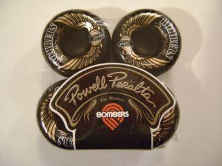 Powell Peralta Bombers Skateboard Wheels Blk 60mm 85A