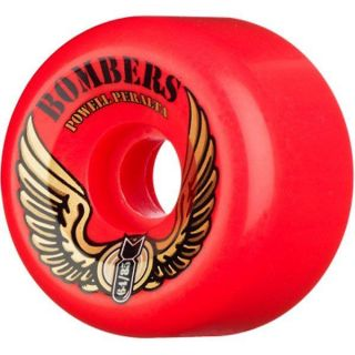 Powell Peralta Bombers Skateboard Wheels Red 64mm 85A