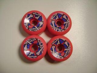 Powell Peralta Cross Bones Skateboard Wheels 64mm 95A Pink