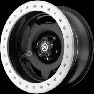 15x9 Black Wheel American Racing ATX Slab 5x4 5
