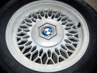 BMW E34 E32 15x7 Style 7 Alloy Wheels 89 95 525i 530i 540i 740i 740IL