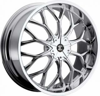 2CRAVE NO9 20x8 5x115 5x120 ET10 Chrome Wheels 4 New Rims