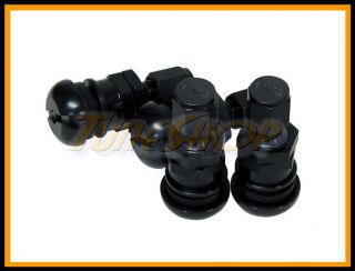 Black Forged Aluminum Valve Stem Caps Wheels Rims Universal M
