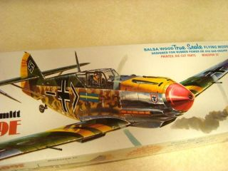 Comet Messerschmitt BF 109E Balsa Model Airplane Kit Unopened