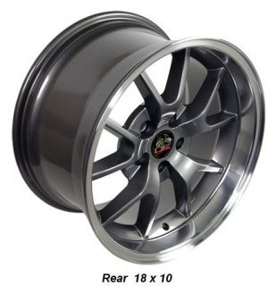 18 9 10 Anthracite FR500 Wheels Rims Fit Mustang® 94 04