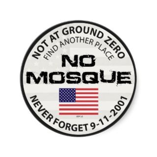 No Mosque At Ground Zero Round Sticker
