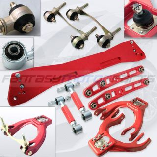 EG DC2 Red Suspension Kit Front Rear Control Arm Subframe Brace Camber
