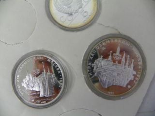 1980 USSR Russian Olympic 6 Coin Silver Set 90 E204