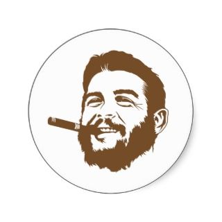 Che Guevara with Cigar Portrait Sticker