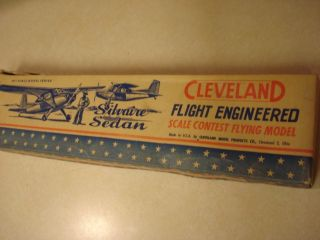 Cleveland Silvaire Sedan Free Flight Model Airplane Kit