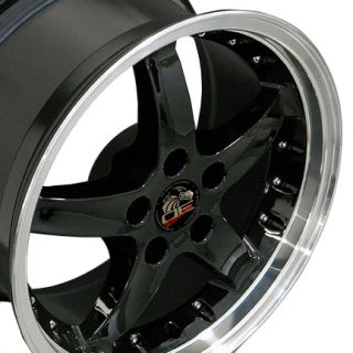 17 Black Cobra Wheels Rims Fit Mustang®