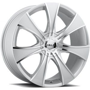 20 inch Helo Silver Wheels Rims 5x112 21