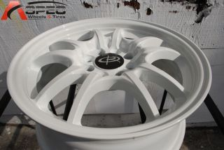 15X6.5 ROTA CIRCUIT 10 4X100 +45 WHITE WHEEL FITS CIVIC CRX BRZ XA XB