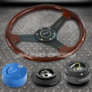 NRG Wood Steering Wheel Hub Carbon Quick Release BL Lock Kit 86 93