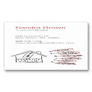 Property Values Flow Chart Business Card Templates