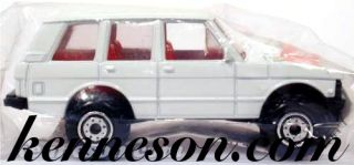 Range Rover Getty White Hot Wheels 1991 Bag Promotional