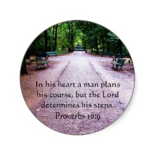 Proverbs 169 Inspirational Bible Verse Sticker