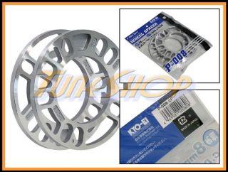 Japan Kics 8mm Aluminum Wheels Rims Spacer 4x100 4x114 5x100 5x114 3
