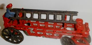 Cast Iron Horse Drawn Fire Ladder Truck