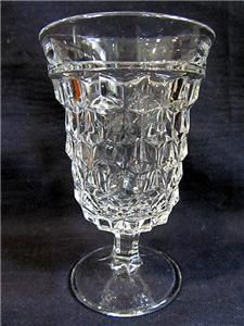 Vintage Fostoria American Crystal Low Water Goblets 4