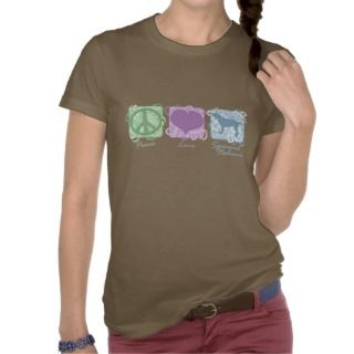 Pastel Peace, Love, and Spinoni Italiani Tee Shirts