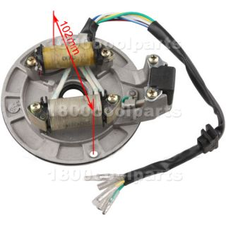 102mm 2 Coil Stator Magneto Plate 70cc 90cc 110cc 125cc Kick Start