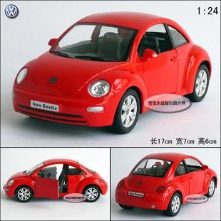 New Volkswagen Beetle Large 1 24 Diecast Model Car Red B121A