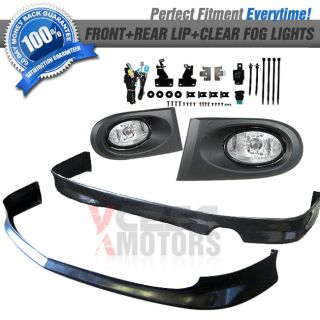 Fit for 02 04 Acura RSX JDM Front Rear Bumper Lip Clear Fog Lights