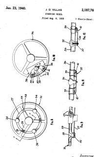 RARE 30 40 50s Vintage Steering Wheel Spinner Knob JD Villa Swirl