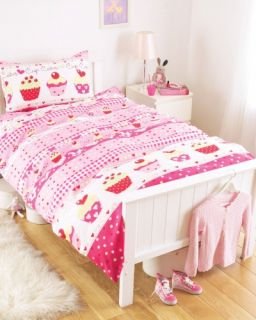 Cup Cakes Rotary Single Bed Duvet Quilt Cover Set Pillow Case Brand