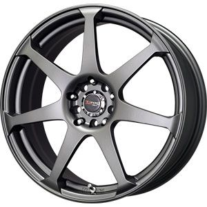 New 17x7 5 5x100 5x114 3 Drag Gun Metal Wheels Rims