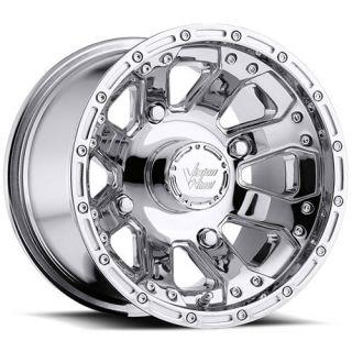 14X7 Chrome Vision Outback Wheels 4x136 3