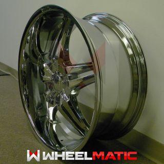 Set of 4 New 24 5x127 135 Player Shooz S007 Chrome Wheels Rims
