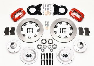 Wilwood Disc Brake Kit Complete 65 69 Ford Mustang Red