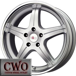16 Silver Voxx MG Wheels Rims 5x110 5 Lug G6 HHR Cobalt Saab Malibu