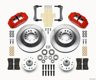 Wilwood Disc Brake Kit 70 78 GM 13 12 1 Piece Rotors 6 4 Piston Red