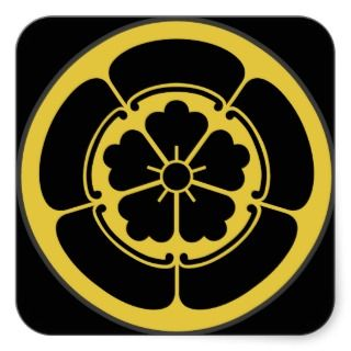 Mon Oda clan Japanese Shogun period sticker