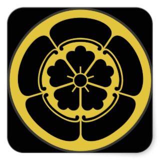 Mon Oda clan Japanese Shogun period sticker