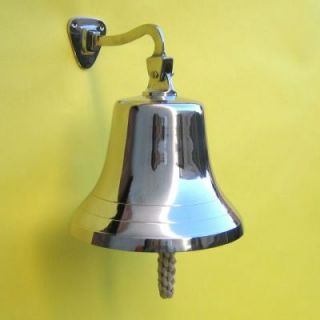 Solid Chrome Bell 10 Nautical Home Wall Decor