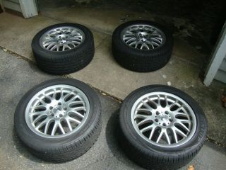 17 5x112 Sport Edition CE Wheels Rims BBS Mesh w/ Dunlop Tires Audi