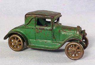 ARCADE FORD MODEL A COUPE no. 116 NICKEL WHEELS ARCADE STICKER 1928