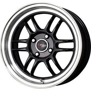 New 15X7 4 100 Dr 21 Gloss Black Machined Wheels/Rims