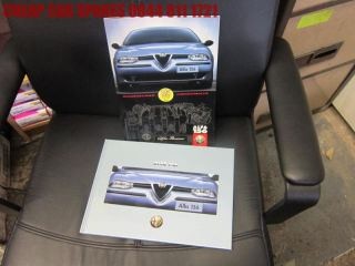Alfa Romeo 156 hardback advertising brochure book & brochure V G Cond