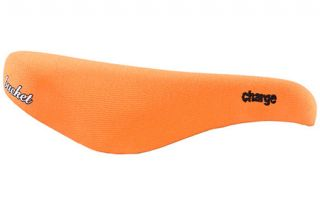 Charge Bucket Seat Bicycle Saddle Orange Fabric CrMo