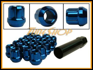Spline Tuner Lock Lug Nuts 12x1 25 1 25 Acorn Wheel Rim Blue N