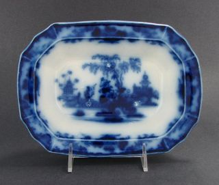 Antique Scinde Flow Blue Ironstone Vegetable Bowl