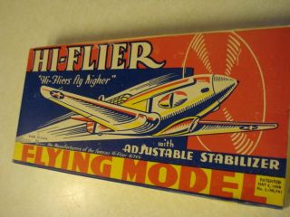 1939 ** HI FLIER * BELLANCA SKYROCKET * FREE FLIGHT MODEL AIRPLANE KIT