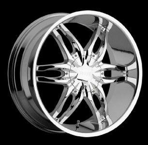 24 inch Viscera 778 Chrome Wheels Rim 5x5 5x127 35